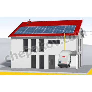 3080Wp соларна система за собствена консумация (без акумулатори)