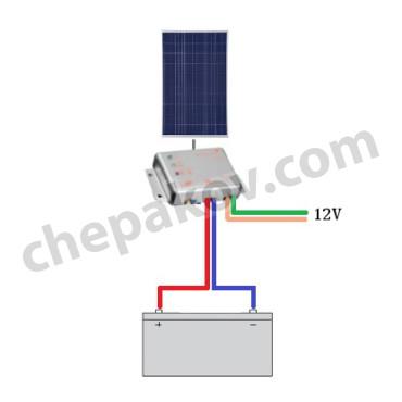 12V Самостоятелна соларна система 50Wp