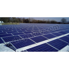 South oriented ground mount system for solar panels