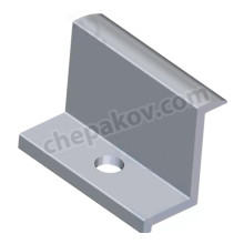 End clamp for solar panels with height 45mm