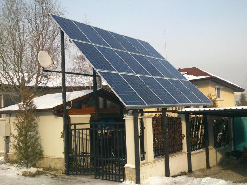захранване на къщи с фотоволтаици